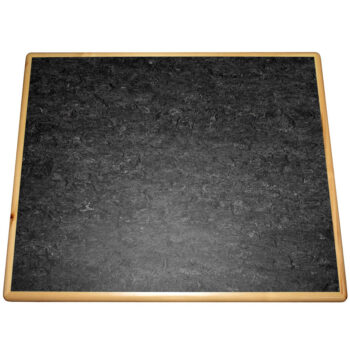 """Forbo """"Graphite"""" Marmoleum Inlay with Natural Pine Wood Edge"""
