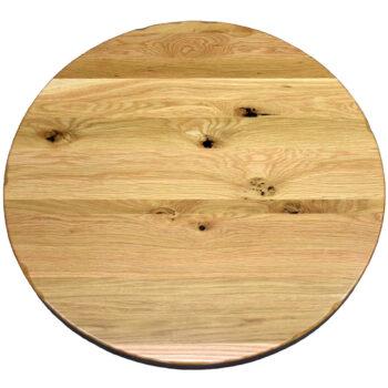 Rustic White Oak Plank Top with Rustic Edge Profile