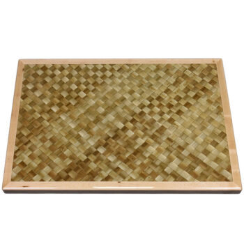 Woven Palm Leaves Inlay with Maple Wood Edge