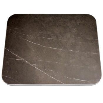 "Sapienstone ""Pietra Grey"" with Ribbed Aluminum T-Mold"