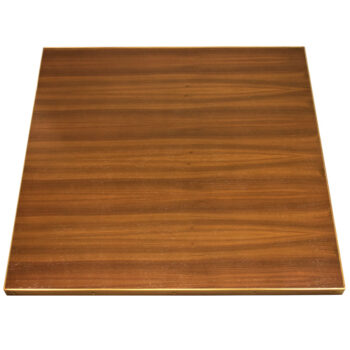 Stained Quartered Walnut Veneer with Antique Brass Edges