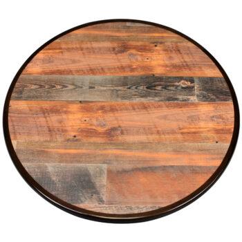 "Wilsonart ""Antique Cognac Pine"" Laminate with Custom Stained Maple Wood Edge"