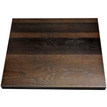Red Oak Veneer Overlay with Red Oak Wood Edge and Custom 2-Tone Stain