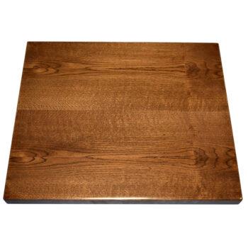 Red Oak Veneer Overlay with Red Oak Wood Edge and Custom Stain